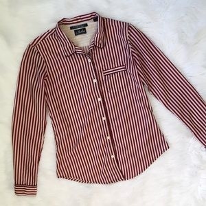 Madison Scotch Red and White Striped Shirt